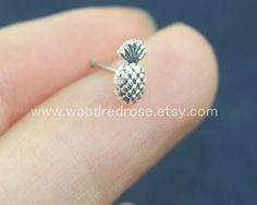 Simple Cute Gold Pineapple Nose Ring Studs Silver Pineapple
