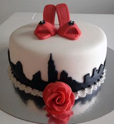 Sex and the City cake/Ancka bakar kakor: Katin Sex and the City -henkinen kakku