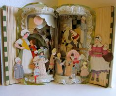 Altered Book pop up style Antique Mother Goose 1923 on Etsy, $300.00