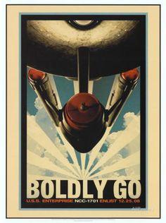 Star Trek Movie Boldly Go Poster Print Prints at AllPosters.com