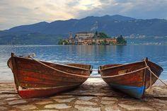 Island of San Giulio. Italy.