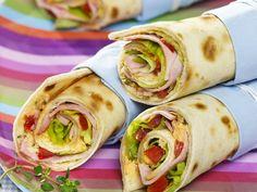 Wraps mit Schinkenfüllung - smarter - Kalorien: 278 Kcal - Zeit: 20 Min.   eatsmarter.de