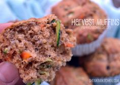 Zucchini, carrot, and apple muffins recipe. A nice healthy muffin for dessert instead of sweets.