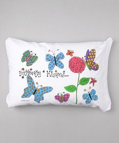 This Butterflies Personalized Standard Pillowcase is perfect! #zulilyfinds