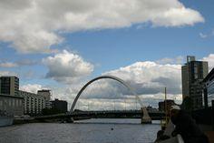 Glasgow's Clyde Arc Bridge, Scotland