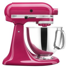 KitchenAid Artisan Series Stand Mixer with Pouring Shield Cranberry