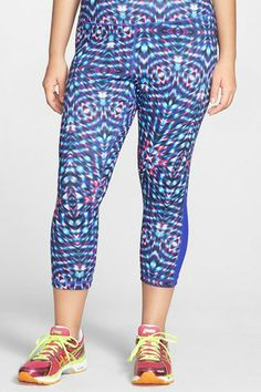 Plus-Size Workout Gear You'll Actually Want To Wear #refinery29  http://www.refinery29.com/plus-size-workout-clothes#slide3  Zella Print Capri Pants, $52, available at Nordstrom.