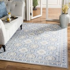 Shop for Safavieh Patina Light Grey/ Ivory Rug (9' x 12'). Get free shipping at Overstock.com - Your Online Home Decor Outlet Store! Get 5% in rewards with Club O! - 17096778