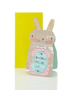 Money Wallet Easter Bunny Card Home
