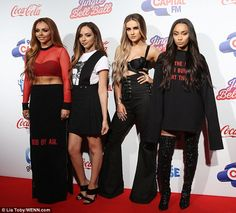 Making an entrance: Little Mix continued to prove they were at the top of their game when ...