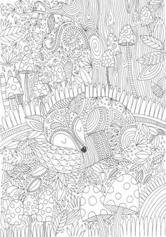 Fox coloring page --> If you're looking for the top coloring books and supplies including colored pencils, gel pens, watercolors and drawing markers, go to our website at http://ColoringToolkit.com. Color... Relax... Chill.