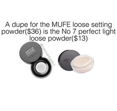 """149 Likes, 6 Comments - makeup dupes (@makeupdupes.x) on Instagram: """"these loose translucent powders provide a natural matte finish to set your makeupthey also have…"""""""