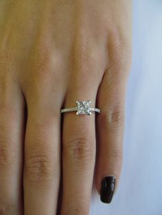 A princess cut #diamond #engagement ring