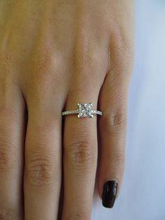 A princess cut #diamond #engagement ring