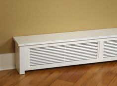 Baseboard styles modern with base molding ideas. Baseboard is the trim that goes along the wall bottom beside the flooring. Different baseboard styles. Baseboard Radiator, Baseboard Heater Covers, Electric Baseboard Heaters, Baseboard Heating, Wood Baseboard, Radiator Heater, Baseboard Styles, Baseboard Ideas, Floor Heater