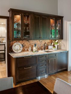 Cabinet Trends in Traditional Kitchens Types Of Cabinets, Blue Cabinets, Upper Cabinets, Wood Cabinets, Traditional Kitchen Cabinets, Kitchen Cabinetry, Crown Point Cabinetry, Raised Panel Doors, Wet Bars