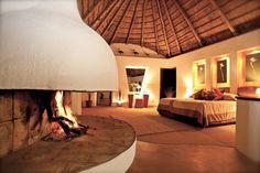 Unusual fireplace design. #home #decor