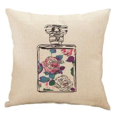 Like and Share if you want this  Perfume Bottle Flowers Vintage Cushion Cover     Tag a friend who would love this!     FREE Shipping Worldwide     Buy one here---> http://www.cutepillowcases.com/product/perfume-bottle-flowers-vintage-cushion-cover/