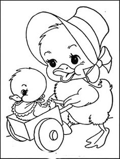 Easter Coloring Sheets, Easter Colouring, Cute Coloring Pages, Adult Coloring Pages, Coloring Pages For Kids, Coloring Books, Painting Patterns, Fabric Painting, Farm Quilt