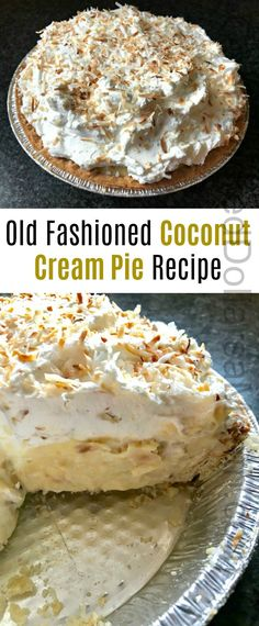 Zoe's Old Fashioned Coconut Cream Pie Recipe - One Hundred Dollars a Month Zoe's Old Fashioned Coconut Cream Pie Recipe Cream Pie Recipes, Easy Pie Recipes, Coconut Recipes, Best Dessert Recipes, Baking Recipes, Spinach Recipes, Steak Recipes, Recipes With Coconut Cream, Chicken Recipes