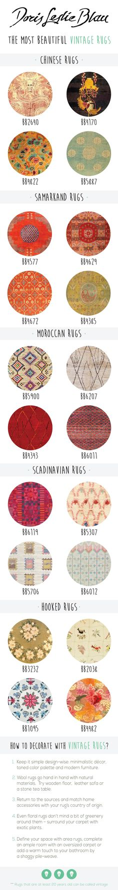 Vintage Rugs: Moroccan rug, Scandinavian rug, Chinese rug, oriental rug. interior decor in the vintage eclectic (Scandinavian, Moroccan) living room :)