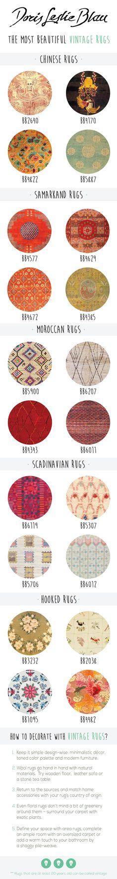 Vintage Rugs: Moroccan rug, Scandinavian rug, Chinese rug, oriental rug. interior decor in the vintage eclectic (Scandinavian, Moroccan) living room :)