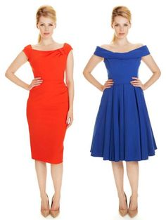Get your wardrobe ready for spring with one of these bright designs #fashion #style #orange #cobalt #elegant #chic #classic #sophisticated #theprettydress #theprettydresscompany