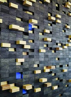 Decorative Textured Wall Panels, Modern Industrial Furniture, Acoustic Panels, Learning Centers, 3d Wall, City Photo, Furniture Design, Ideas Para, Centre