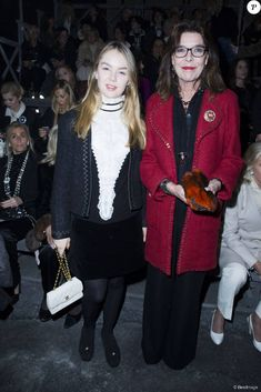 Princess Caroline of Monaco and her daughter Princess Alexandra of Hanover attended the fashion show of the new collection Chanel 2015/2016 in Rome in the Cinecittà studios.