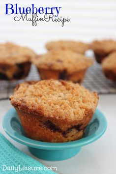 I can have blueberry muffins for breakfast every single day, but that's probably not very healthy :) Muffin Recipes, Snack Recipes, Dessert Recipes, Snacks, Delicious Breakfast Recipes, Delicious Desserts, Yummy Food, Easy To Make Breakfast, Breakfast Items