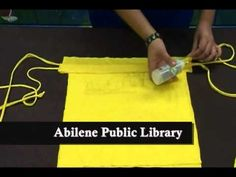 Jessica Reyes is back to show you how to transform old t-shirts into some cool looking backpacks in this latest crafting episode for teens and young adults.  Try this out inspired from some great teen programs at the Abilene Public Library...it's addictive.