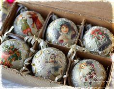 """Купить Набор шаров """"Винтаж"""" в интернет магазине на Ярмарке Мастеров"""