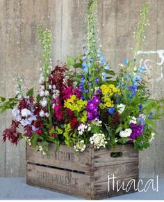 garden planter from a crate