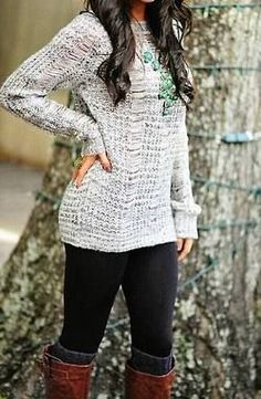 Fall Outfit....luv luv luv the sweater and the necklace