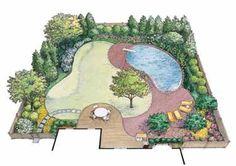 Private Backyard of Informal Grace (HWBDO11539)   House Plan from BuilderHousePlans.com