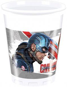 Confezione da 8 bicchieri Avengers Civil War™
