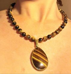 Tiger's Eye Necklace with Tiger's Eye Pendant