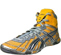asics dan gable wrestling shoes leather