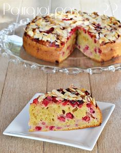 Groseilles rouge au jardin, Miaaammm....  j'adore cette saison !!  :-)      Gâteau groseilles rouge /  amande  (moule Ø20)   140...