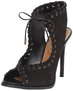 Nine West Women's Hotstuff Leather Heeled Sandal ** Additional details at the pin image, click it  : Closed toe sandals