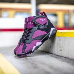 "SHOP: Nike Air Jordan 7 Retro ""Mulberry"" at kickbackzny.com."