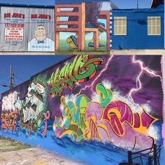 #streetart & commercial color in St. Petersburg #LoveFl Grand Central Arts District #Florida #artists #artsdistrict