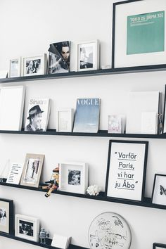 Display shelves as a gallery wall