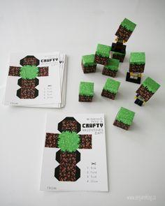 Minecraft valentines!  http://www.seejaneblog.co/2013/02/09/minecraft-valentines-free-printable/