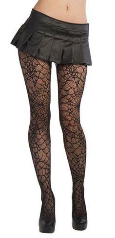 Black Spiderweb Pantyhose - Gothic accessories