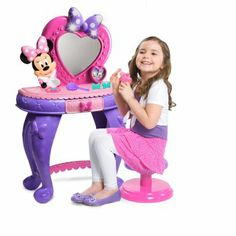 Just Play Minnie Mouse Vanity Toys Make Up Disney Bow Minnie Mouse Vanity, Minnie Mouse Toys, Mickey Y Minnie, Pink Minnie, Toddler Toys, Baby Toys, Kids Toys, Girl Toddler, Disney Bows