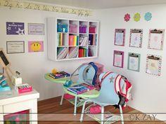 """American girl doll school Classroom School 18"""" doll dollhouse doll house"""