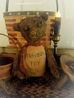 Very Primitive Grungy Bear Doll Antique Toy Co. #NaivePrimitive #artist