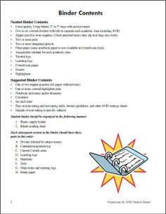 ... | Student planner, Cornell notes and Student planner printable