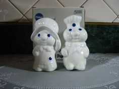 Vintage Salt and Pepper Shakers: Pillsbury Doughboy & Girl. $32.00, via Etsy.